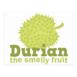 Durian the smelly fruit postcards