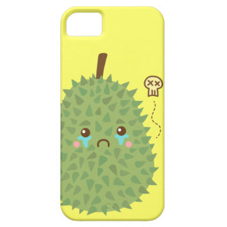 Durian triste que no consigue ningún abrazo funda para iPhone 5 barely there