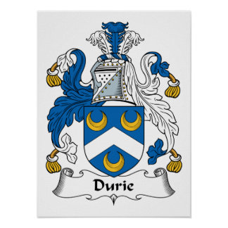 Durie Family Crest Poster