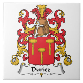 Duriez Family Crest Ceramic Tile