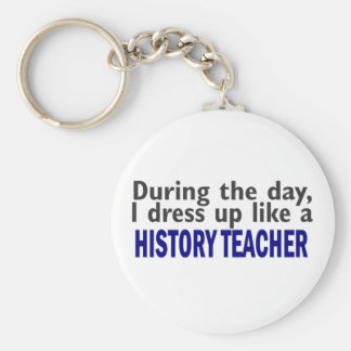 During The Day (History Teacher) Basic Round Button Keychain