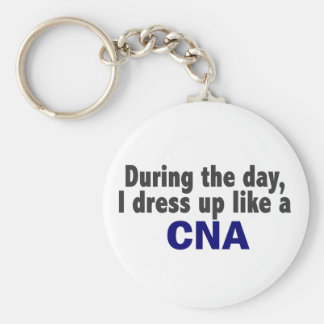 During The Day I Dress Up Like A CNA Keychain