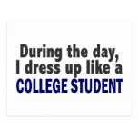 During The Day I Dress Up Like A College Student Postcard
