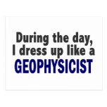 During The Day I Dress Up Like A Geophysicist Post Cards