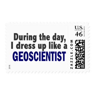 During The Day I Dress Up Like A Geoscientist Postage Stamps