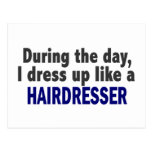 During The Day I Dress Up Like A Hairdresser Postcard