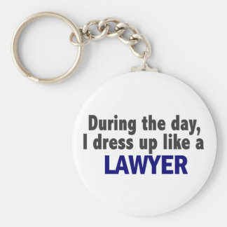 During The Day I Dress Up Like A Lawyer Basic Round Button Keychain
