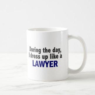 During The Day I Dress Up Like A Lawyer Coffee Mug