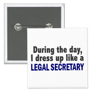 During The Day I Dress Up Like A Legal Secretary Buttons