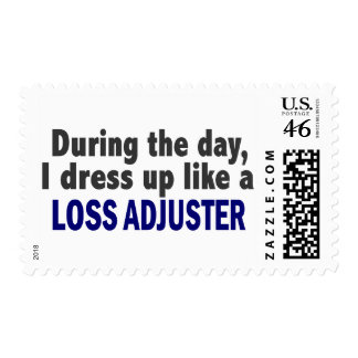 During The Day I Dress Up Like A Loss Adjuster Postage Stamp