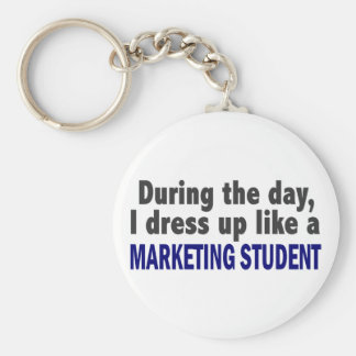 During The Day I Dress Up Like A Marketing Student Keychain