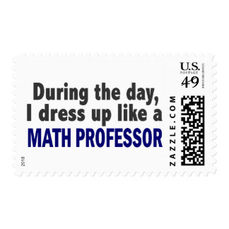 During The Day I Dress Up Like A Math Professor Stamp