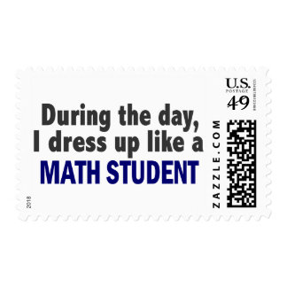 During The Day I Dress Up Like A Math Student Postage