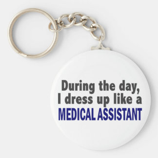 During The Day I Dress Up Like A Medical Assistant Basic Round Button Keychain