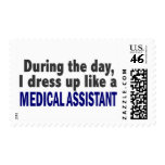 During The Day I Dress Up Like A Medical Assistant Stamp
