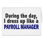 During The Day I Dress Up Like A Payroll Manager Cards