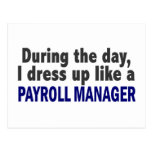 During The Day I Dress Up Like A Payroll Manager Post Card
