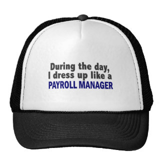 During The Day I Dress Up Like A Payroll Manager Trucker Hat