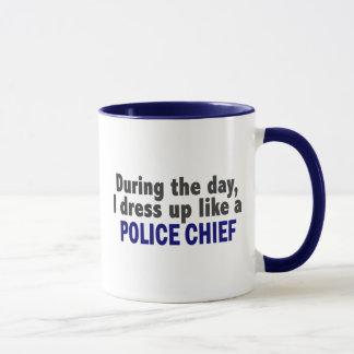 During The Day I Dress Up Like A Police Chief Mug
