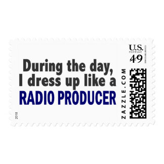 During The Day I Dress Up Like A Radio Producer Postage Stamp