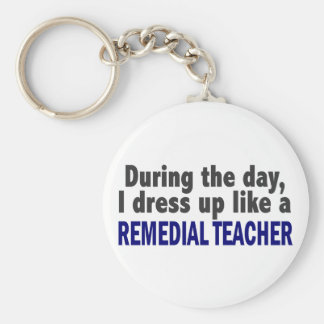 During The Day I Dress Up Like A Remedial Teacher Keychain
