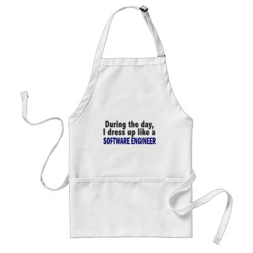 During The Day I Dress Up Like A Software Engineer Aprons