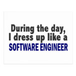 During The Day I Dress Up Like A Software Engineer Postcard