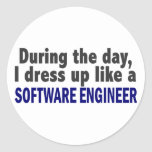 During The Day I Dress Up Like A Software Engineer Stickers
