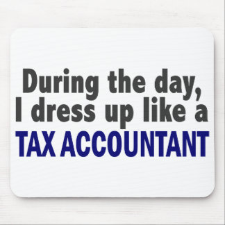 During The Day I Dress Up Like A Tax Accountant Mouse Pad