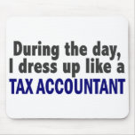 During The Day I Dress Up Like A Tax Accountant Mousepad