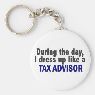 During The Day I Dress Up Like A Tax Advisor Keychain