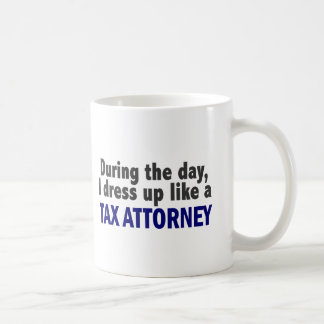 During The Day I Dress Up Like A Tax Attorney Mugs