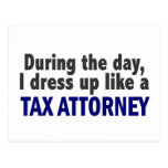 During The Day I Dress Up Like A Tax Attorney Postcard