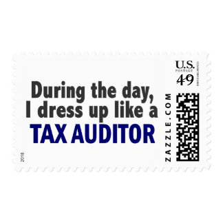 During The Day I Dress Up Like A Tax Auditor Postage Stamps