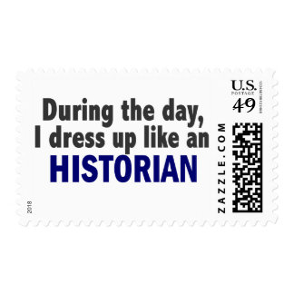 During The Day I Dress Up Like An Historian Stamp