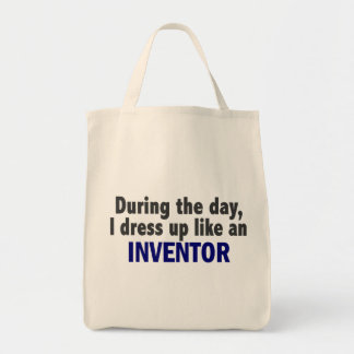 During The Day I Dress Up Like An Inventor Tote Bag