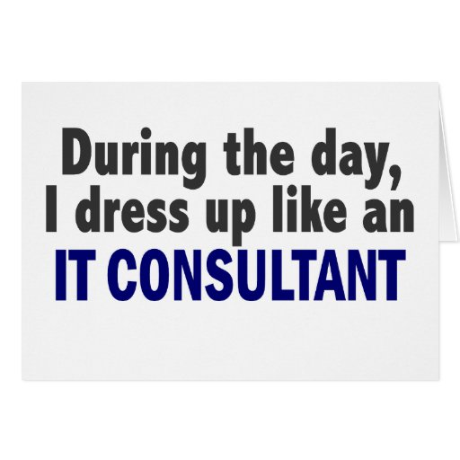 During The Day I Dress Up Like An IT Consultant Cards
