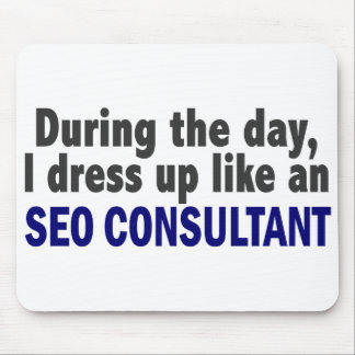 During The Day I Dress Up Like An SEO Consultant Mousepad