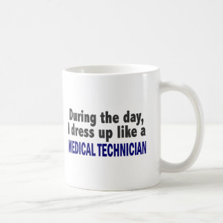 During The Day I Dress Up Like Medical Technician Classic White Coffee Mug