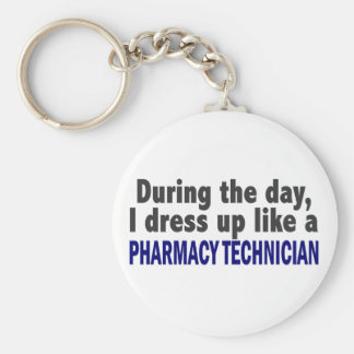 During The Day I Dress Up Like Pharmacy Technician Keychains