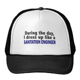 During The Day I Dress Up Like Sanitation Engineer Mesh Hat
