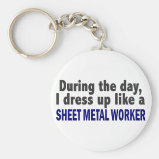 During The Day I Dress Up Like Sheet Metal Worker Keychain
