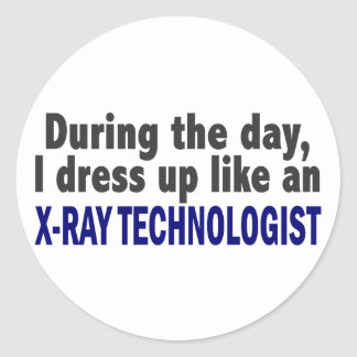 During The Day I Dress Up Like X-Ray Technologist Classic Round Sticker