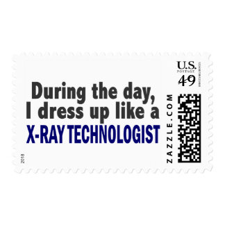 During The Day I Dress Up Like X-Ray Technologist Postage