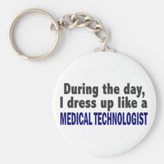 During The Day I Dress Up Medical Technologist Basic Round Button Keychain