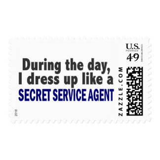 During The Day I Dress Up Secret Service Agent Postage Stamps