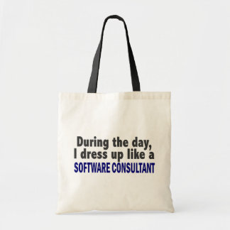 During The Day I Dress Up Software Consultant Canvas Bags