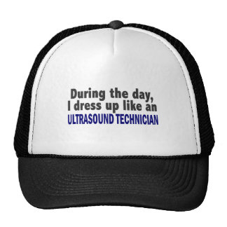 During The Day I Dress Up Ultrasound Technician Mesh Hat