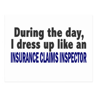 During The Day Insurance Claims Inspector Postcards