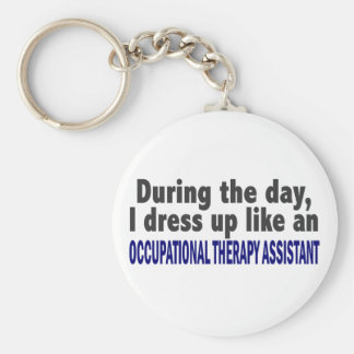 During The Day Occupational Therapy Assistant Basic Round Button Keychain
